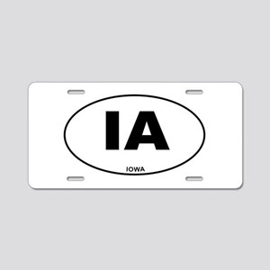 Iowa State Aluminum License Plate