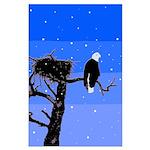 Winter Bald Eagle Large Poster