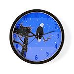 Winter Bald Eagle Wall Clock