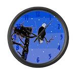 Winter Bald Eagle Large Wall Clock