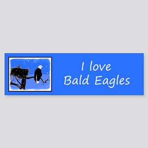Winter Bald Eagle Sticker (Bumper)