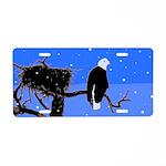 Winter Bald Eagle Aluminum License Plate