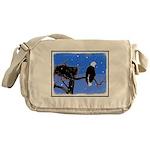 Winter Bald Eagle Messenger Bag