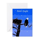 Winter Bald Eagle Greeting Card