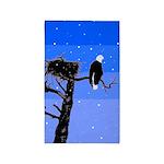 Winter Bald Eagle Area Rug