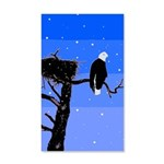 Winter Bald Eagle 35x21 Wall Decal