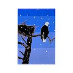 Winter Bald Eagle Rectangle Magnet (100 pack)