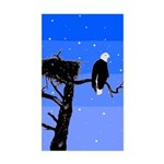 Winter Bald Eagle Sticker (Rectangle)