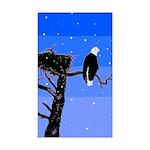 Winter Bald Eagle Sticker (Rectangle 10 pk)