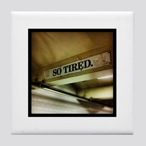 42nd Street Subway Sign Tile Coaster