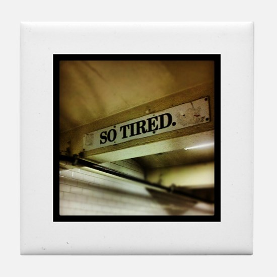 42nd Street Subway Sign Tile Coaster
