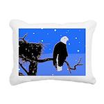 Winter Bald Eagle Rectangular Canvas Pillow