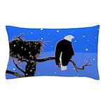 Winter Bald Eagle Pillow Case