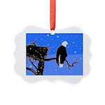 Winter Bald Eagle Picture Ornament