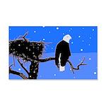 Winter Bald Eagle 20x12 Wall Decal