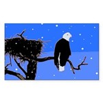 Winter Bald Eagle Sticker (Rectangle 50 pk)