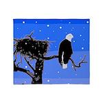 Winter Bald Eagle Throw Blanket