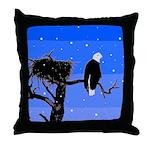 Winter Bald Eagle Throw Pillow