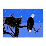 Winter Bald Eagle 5'x7'Area Rug