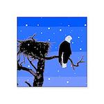 Winter Bald Eagle Square Sticker 3