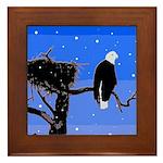 Winter Bald Eagle Framed Tile