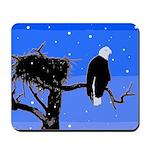 Winter Bald Eagle Mousepad