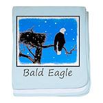 Winter Bald Eagle baby blanket