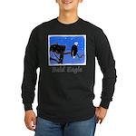 Winter Bald Eagle Long Sleeve Dark T-Shirt