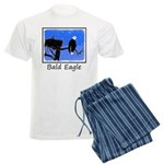 Winter Bald Eagle Men's Light Pajamas