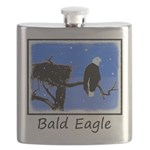 Winter Bald Eagle Flask
