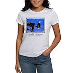 Winter Bald Eagle Women's Classic White T-Shirt