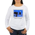 Winter Bald Eagle Women's Long Sleeve T-Shirt