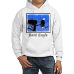 Winter Bald Eagle Hooded Sweatshirt