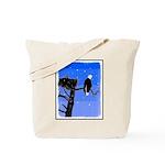 Winter Bald Eagle Tote Bag
