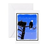 Winter Bald Eagle Greeting Cards (Pk of 10)