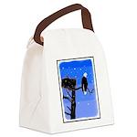 Winter Bald Eagle Canvas Lunch Bag