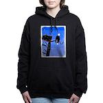 Winter Bald Eagle Women's Hooded Sweatshirt