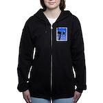 Winter Bald Eagle Women's Zip Hoodie