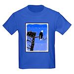 Winter Bald Eagle Kids Dark T-Shirt