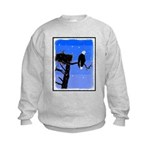 Winter Bald Eagle Kids Sweatshirt