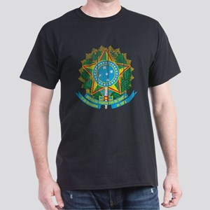 Brazil Coat Of Arms Dark T-Shirt