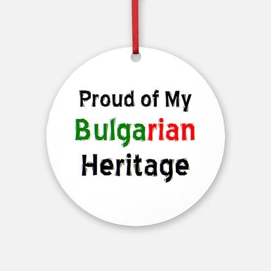bulgarian heritage Round Ornament