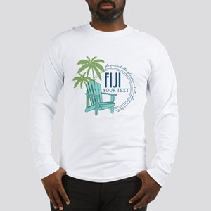 Phi Gamma Delta Palm Chair Per Long Sleeve T-Shirt