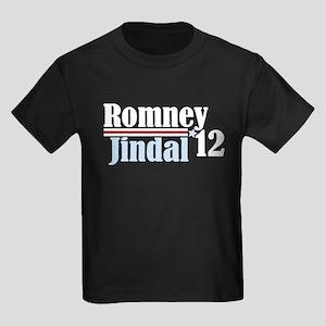 Romney Jindal 2012 Kids Dark T-Shirt