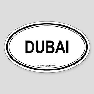 Dubai, United Arab Emirates e Oval Sticker