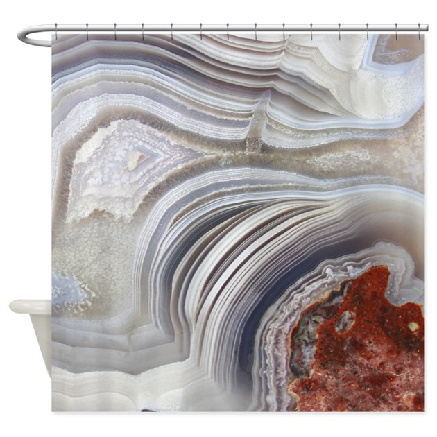 Agate Shower Curtain By Christenrunge