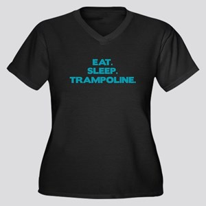 TRAMPOLINE Women's Plus Size V-Neck Dark T-Shirt