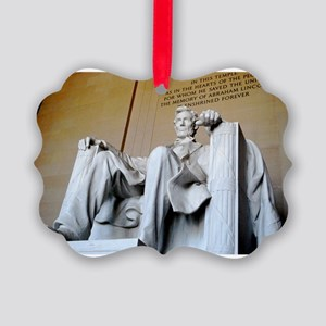 Words of Lincoln Picture Ornament