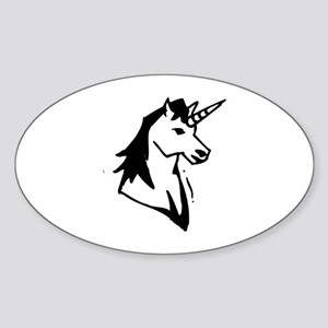 Unicorn Sticker (Oval)