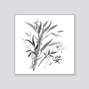 "Bamboo Garden Square Sticker 3"" x 3"""